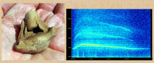Pic 6: Spectogram of the sounds of the Mazatepetl ceramic death whistle fragment