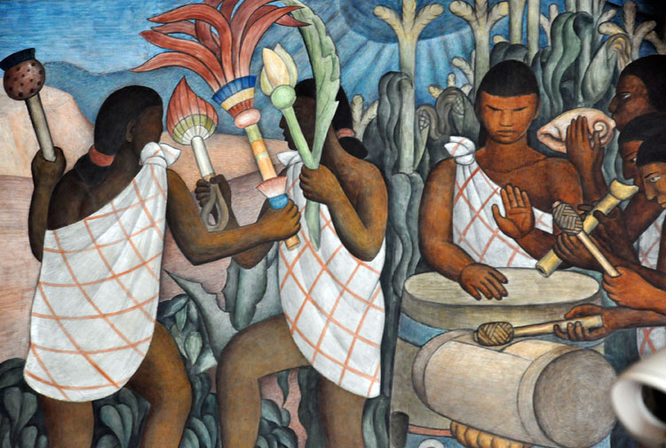If you want to study aztec music in depth for Diego rivera aztec mural