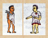 An Aztec (Mexica) boy and girl from the Codex Mendoza  sc 1 st  Mexicolore & Aztec childrenu0027s clothes
