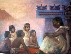 Pic 3: Boys at an Aztec school
