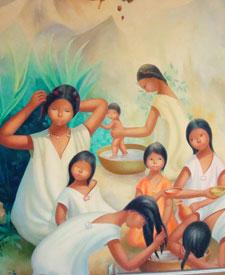 Pic 5: Aztec girls wearing blouses