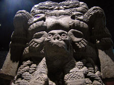 Pic 10: The earth goddess Cihuacoatl/Coatlicue, stone statue, National Museum of Anthropology, Mexico City