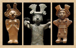 Pic 13: Ceramic figurines representing Xochiquetzal, National Museum of Anthropology, Mexico City
