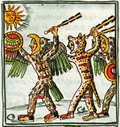 Fig 2: Guerreros mexicas, Códice Florentino, Libro 2