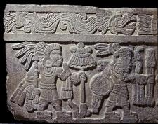 Fig 3: Piedra de los guerreros. Escultura mexica. Museo Nacional de Antropología de México