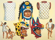 Pic 4: Aztec cotton doublets together with other military equipment; illustration by Adam Hook