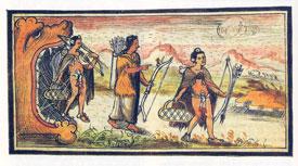 Fig 5: Lámina de Fray Diego Durán 'Historia...', fol. 4v