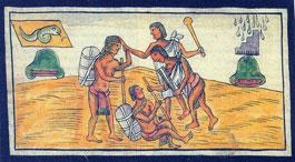 Fig 8: Lámina de Fray Diego Durán 'Historia...', fol. 186v
