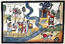 Pic 9: War against Coyoacán, Tovar Manuscript pl. X