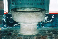 Pic 14: Supposed baptismal font of the Lords of Tlaxcala