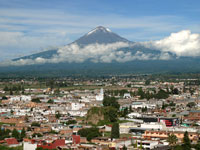Pic 16: Cholula today with Popocatépetl behind