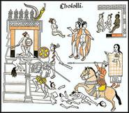 Pic 17: The massacre of Cholula, Lienzo de Tlaxcala