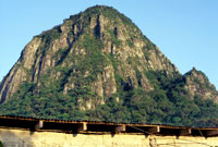 Pic 2: The sacred mountain viewed from the shrine below.