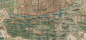 Pic 10: Map of Tenochtitlan ca. 1550 (detail), attributed to Alonso de Santa Cruz