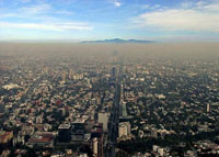 Pic 17: Smog hovering over Mexico City today
