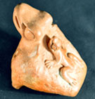Pic 4: Replica Mexica frog shaped ocarina, bearing offspring; Roberto Velázquez collection
