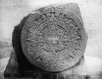 "Pic 5: Aztec Calendar Stone. William H. Jackson. 8x10"" glass plate negative, c. 1880. Library of Congress, Washington, D.C. LC-D4-3162"