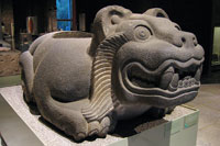 Pic 8: Jaguar 'cuauhxicalli' sacrificial vessel, National Museum of Anthropology, Mexico City