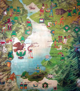 Pic 3: The sacred valley of Mexico, painting by unknown artist