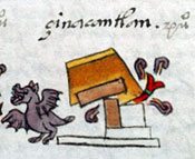 Pic 7: The place glyph in the Codex Mendoza for 'The Place of Many Bats'