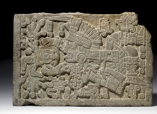 Pic 2: Maize flows from a ceremonial jar held by Tlaloc, god of rain (British Museum)