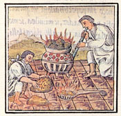 Pic 10: Melting and casting gold, Florentine Codex Book IX