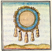 Pic 13: Gold ornament with bells, Florentine Codex Book IX