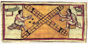 The Aztec dice game of 'patolli'