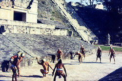 The Aztecs enjoyed the 3,500 year old ritual ballgame - a sport 'of life and death'!