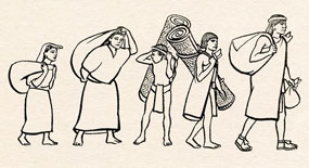 Basically EVERYTHING had to be carried by hand in Aztec times...