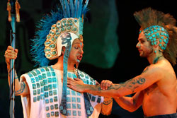 Most of the costumes were beautifully designed and sympathetic to pre-Hispanic styles...