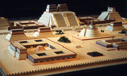 Pic 3: Model of the sacred precinct of Tenochtitlan, Museum of Anthropology, Mexico City