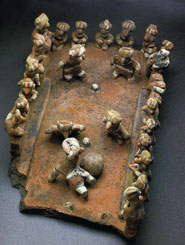 Pic 5: Ceramic ballgame model from West Mexico