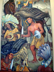 Pic 15: Detail from a mural of Mexican History by Diego Rivera, National Palace, Mexico City