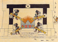 Pic 11: The Aztec New Fire Ceremony (from the Codex Borbonicus)