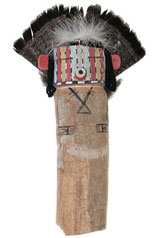 Pic 15: Hopi old style Corn Katsina carving. Photograph by Jonathan E. Reyman