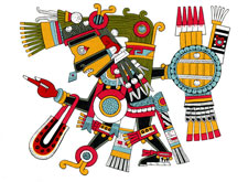 All were afraid of Tezcatlipoca, 'Smoking Mirror', the god of fate...