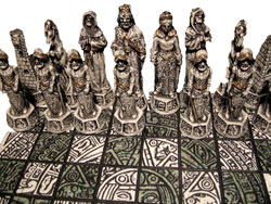Spanish conquistadores, in a chess set
