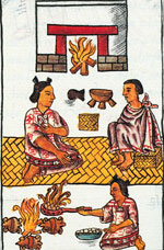 Pic 8: A New Fire was lit in every Mexica house! Florentine Codex Book 7