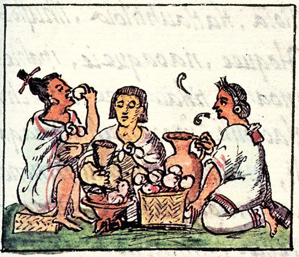 Image result for aztecs eating chocolate