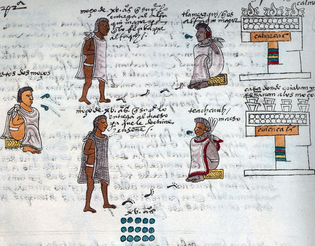 aztec education and writing