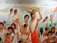 Pic 8: Aztec girls definitely went to school, but what they studied there we don't know!