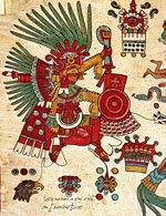Pic 10: Xipe Totec, detail of Codex Borbonicus, folio 14