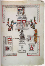 Pic 7: The sacred precinct of Tenochtitlan - 'Primeros Memoriales' folio 269r