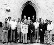 Pic 10: Jeremy Sabloff, Richard Leventhal, HBN, Wolfgang Haberland, ?, Evon Vogt, Gareth Lowe (behind), Gordon  Willey, Joyce Marcus, William Rathje, Gair Tourtellot, Richard Adams, Michael Moseley, David Freidel, and ?