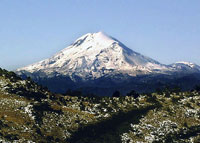 Pic 3: Pico de Orizaba (Citlaltepetl) stands 5636 masl (18,491 ft) in the state of Veracruz. Mountain summits and volcanoes are commonly associated with lightning throughout the Americas