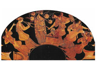 Pic 5: Greek pottery showing music and dance in a Dionysian festivity