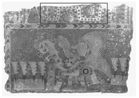 Pic 6: Mural painting fragment from Tlacuilapaxco, Teotihuacan