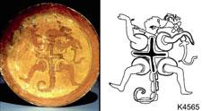 Pic 10: Maya ceramic plate, K4565