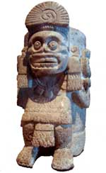 Pic 2: Stone Mexica urn depicting the god of death; National Museum of Anthropology, Mexico City
